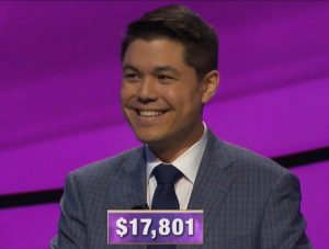 Zach Newkirk, today's Jeopardy! winner (for the June 9, 2020 game.)