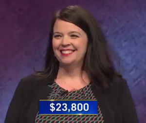 Cory Barger, today's Jeopardy! winner (for the September 14, 2020 game.)