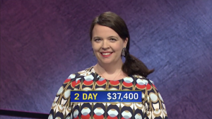 Cory Barger, today's Jeopardy! winner (for the September 15, 2020 game.)