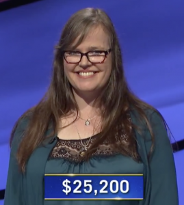 Dana Hill, today's Jeopardy! winner (for the September 21, 2020 game.)