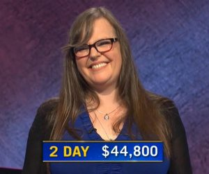 Dana Hill, today's Jeopardy! winner (for the September 22, 2020 game.)
