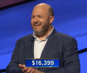Eric Aiese, today's Jeopardy! winner (for the September 28, 2020 game.)