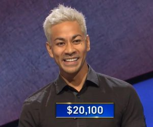 Joe Velasco, today's Jeopardy! winner (for the September 17, 2020 game.)