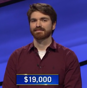 Mason Maggio, today's Jeopardy! winner (for the September 29, 2020 game.)