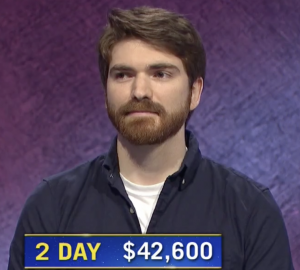 Mason Maggio, today's Jeopardy! winner (for the September 30, 2020 game.)