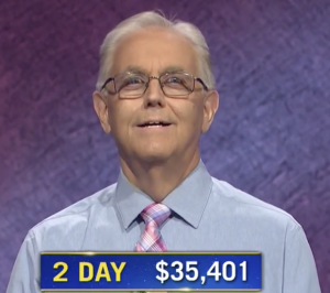 Brian Adams, today's Jeopardy! winner (for the October 26, 2020 game.)