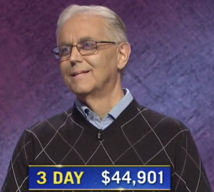 Brian Adams, today's Jeopardy! winner (for the October 27, 2020 game.)