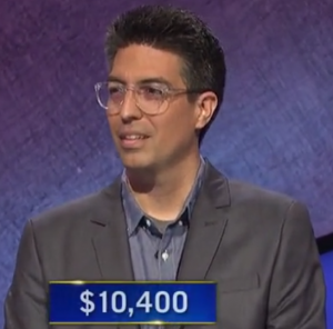 Carlos Chaidez, today's Jeopardy! winner (for the October 20, 2020 game.)