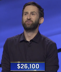 Colin Davy, today's Jeopardy! winner (for the October 22, 2020 game.)