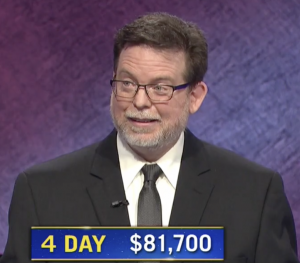 Kevin Walsh, today's Jeopardy! winner (for the October 13, 2020 game.)