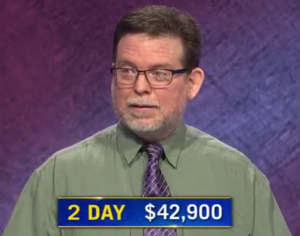 Kevin Walsh, today's Jeopardy! winner (for the October 9, 2020 game.)