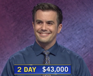 Phillip Howard, today's Jeopardy! winner (for the October 2, 2020 game.)