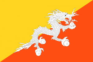 The flag of Bhutan, as asked about during Final Jeopardy! on November 12, 2020.