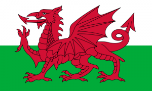 The flag of Wales, as asked about during Final Jeopardy! on November 12, 2020.