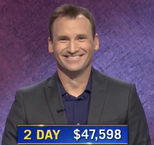 Andy Wood, today's Jeopardy! winner (for the November 17, 2020 game.)