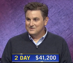 Greg Marrero, today's Jeopardy! winner (for the November 11, 2020 game.)