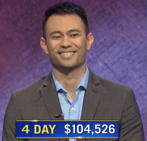 Ryan Hemmel, today's Jeopardy! winner (for the November 30, 2020 game.)