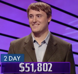 Ben Davis, today's Jeopardy! winner (for the August 23, 2021 game.)