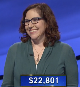 Katherine Ryan, today's Jeopardy! winner (for the December 4, 2020 game.)
