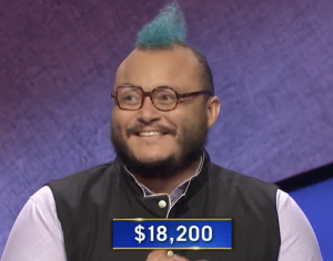 T.J. Tallie, today's Jeopardy! winner (for the December 1, 2020 game.)