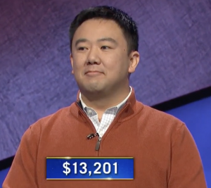 Brian Chang, today's Jeopardy! winner (for the January 19, 2021 game.)