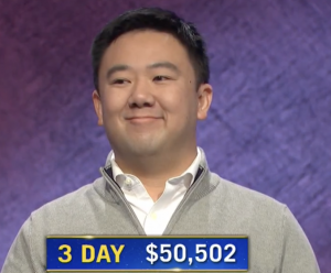 Brian Chang, today's Jeopardy! winner (for the January 21, 2021 game.)