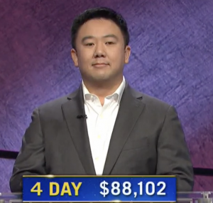 Brian Chang, today's Jeopardy! winner (for the January 22, 2021 game.)