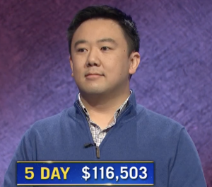 Brian Chang, today's Jeopardy! winner (for the January 25, 2020 game.)