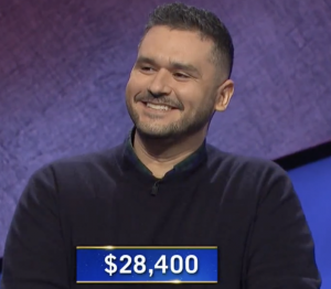 Donesh Olyaie, today's Jeopardy! winner (for the January 18, 2021 game.)