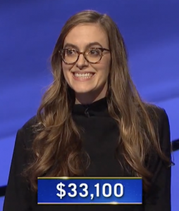 Lucy Ricketts, today's Jeopardy! winner (for the January 12, 2021 game.)