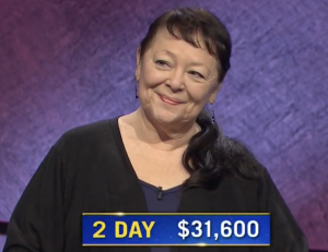 Yoshie Hill, today's Jeopardy! winner (for the January 7, 2020 game.)