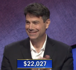 Aaron Craig, today's Jeopardy! winner (for the February 23, 2021 game.)