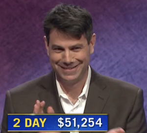 Aaron Craig, today's Jeopardy! winner (for the February 24, 2021 game.)