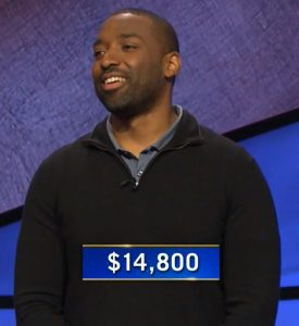 Alan Johnson, today's Jeopardy! winner (for the February 18, 2021 game.)