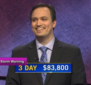 John Focht, today's Jeopardy! winner (for the February 10, 2021 game.)