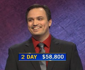 John Focht, today's Jeopardy! winner (for the February 9, 2021 game.)