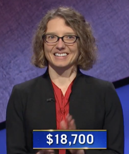 Nicole Kozdron, today's Jeopardy! winner (for the February 3, 2021 game.)