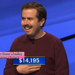 Phil Hoffman, today's Jeopardy! winner (for the February 15, 2021 game.)