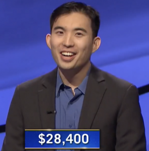 Bryce Hwang, today's Jeopardy! winner (for the March 29, 2021 game.)