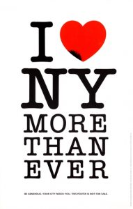 "Milton Glaser's 9/11 ""I Love New York More Than Ever"" logo, as referenced during Final Jeopardy! on Wednesday, March 31, 2021."