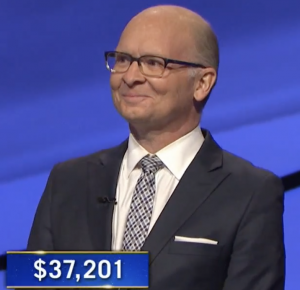 Jon Spurney, today's Jeopardy! winner (for the March 1, 2021 game.)