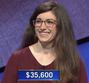 Susan McMillan, today's Jeopardy! winner (for the March 26, 2021 game.)