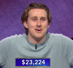 Brandon Deutsch, today's Jeopardy! winner (for the April 5, 2021 game.)