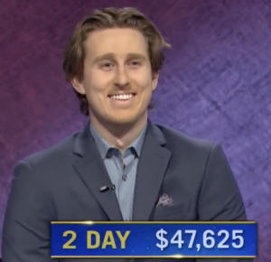 Brandon Deutsch, today's Jeopardy! winner (for the April 6, 2021 game.)