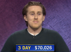 Brandon Deutsch, today's Jeopardy! winner (for the April 7, 2021 game.)