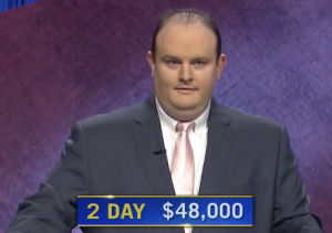 Kelly Donohue, today's Jeopardy! winner (for the April 23, 2021 game.)
