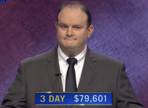 Kelly Donohue, today's Jeopardy! winner (for the April 26, 2021 game.)