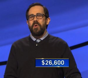 Mike Nelson, today's Jeopardy! winner (for the April 19, 2021 game.)