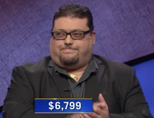 Pasquale Palumbo, today's Jeopardy! winner (for the April 8, 2021 game.)