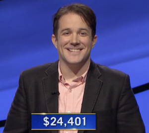 Patrick Hume, today's Jeopardy! winner (for the April 14, 2021 game.)